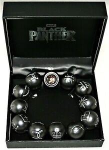 Marvel Comics Black Panther Kimoyo Crystal & Metal? Bead Bracelet New MIB + COA