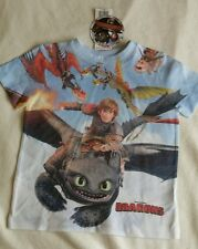 How to Train Your Dragon age 3-4 T-shirt New Official Genuine *defect read desc*