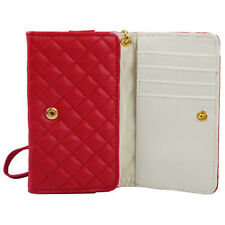 Hülle f iPhone SE 5 5S Portmonee Portemonnaie Kunstleder Tasche Wallet Case Rot