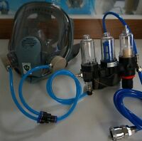 Supplied AIR FED MASK KIT For Anest Iwata Full face Gas PAINT SPRAY Respirator