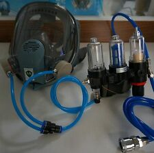 Fresh AIR FED Face MASK Supplied KIT For Gas PAINT SPRAY RESPIRATOR 2015 Updated