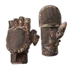 NEW Mossy Oak Pop Top Camo Gloves Heat Retention & Odor Control: Youth L/XL
