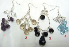 30 Ohrhänger mit Glaskristall * Großhandel Modeschmuck Paket Ohrringe 4 Designs