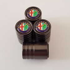 ALFA ROMEO Titanium valve Tyre Dust Caps Plastic Inside all models 10 COLOR MiTO