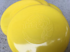 "One (1) Yellow Trix 4"" Flying Disc Cereal Premiums Unused Mint Condition"