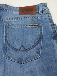 SUPERDRY Jeans Buried Cast Herren Hose Vintage Denim dunkelblau Worker Cargo