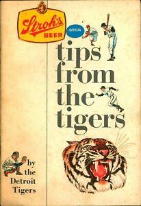 1968 Stroh's Beer & Ice Cream Detroit Tigers Booklet Al Kaline Willie Horton Etc