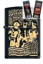 Zippo 218 vietnam verteran sacrifice Lighter with *FLINT & WICK GIFT SET*