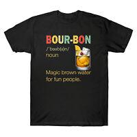 Bourbon Noun Magic Brown Water for Fun People Vintage Drinking Men's T-Shirt Tee