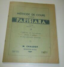 METHODE DE COUPE AGREEE PARISIANA M.CHAUDOT BESANCON