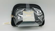 Aimee Kestenberg 3-Piece Set Black Travel Cosmetic Bag Case Pouch Organizer