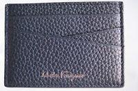 New Salvatore Ferragamo Men's CC Holder Credit Card Case Black Wallet