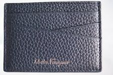 New Salvatore Ferragamo Men's CC Holder Credit Card Case Black Wallet