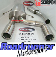 Scorpion Renault Clio 182 Exhaust De Cat & Stainless Cat Back System Resonated