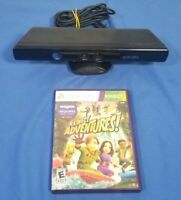 Xbox 360 Kinect Microsoft Sensor Model # 1414 and game Kinect Adventures