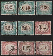 Repubblica S. Marino 1897/1919 Segnatasse Cifra Serie completa n. 1/9 Usati San