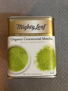 Mighty Leaf Tin Organic Matcha Ceremonial Green Tea. 4oz. Expires 2023