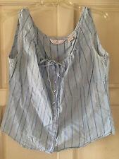Womens light blue Blouse Size L Sleevless