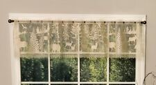 "Lodge Hollow Lace Window Valance Natural 60"" x 15"" Den Rustic Livingroom Bedroom"
