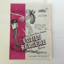 Vintage. Tivoli Folies Bergere Revue Programme #209