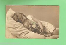 #A.  POSTCARD -  GIRL SLEEPING WITH DOLL