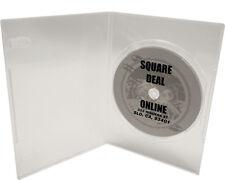 (5) DVBR07CL Super Thin CLEAR Single DVD Cases Boxes 7mm NEW Slim Disc Box Set