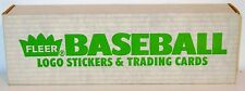 FLEER 1988 COMPLETE FACTORY SEALED SET OF LOGO STICKERS & TRADING CARDS