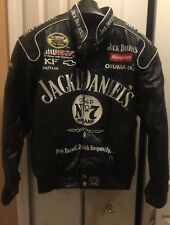 Vintage Motorcycle Biker Jacket Auth Jack Daniels Leather Coat RARE NEW Men SzM