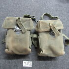 US GI M-56 Universal small arms pouch Vietnam era X2 matched up red clay (SM2)