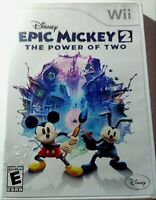 Disney Epic Mickey 2: The Power of Two (Nintendo Wii, 2012, Has Some Cover Wear)