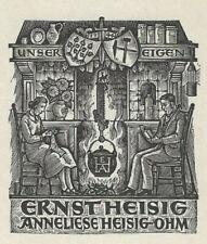 HANS PAPE: Exlibris für Ernst Heisig und Anneliese Heisig-Ohm