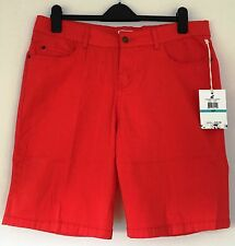 Caribbean Joe & Co ~ NWT MSRP $42 Petite Shorts Size 16 ~ Red