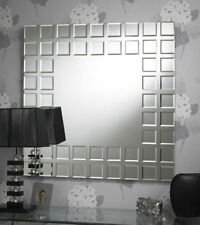 Glass Frame Square Contemporary Decorative Mirrors