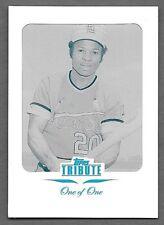 2011 Topps Tribute Framed Cyan Printing Plate #64 Lou Brock #1/1  1 OF 1