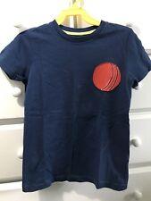 Mini Boden Boys 7/8 Baseball Applique t-shirt Euc