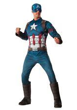 Men's Deluxe Captain America Avengers Marvel Costume SIZE XL (Used)