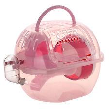 Gabbia in Plastica Rosa con Ruota Corsa Silenziosa per Criceti Cavie Concillà