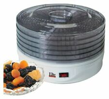 Elite 5 Tray Food Dehydrator Quickly and Evenly 135W 5 Adjustable Stackable Tray