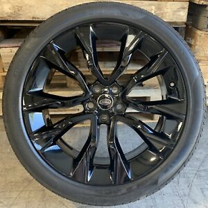 """Genuine Range Rover Style 5086 22"""" Inch Gloss Black Alloy Wheels & Tyres x4"""