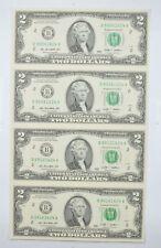 Rare** UNCUT SHEET - 2009 $2.00 - Choice Unc - Never Cut by the Treasury! *466