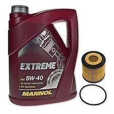 5 Liter Mannol SAE 5W-40 Extreme Motoröl + Ölfilter SH 4787P von SCT Germany