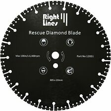 Rescue Diamond Blade. Cuts Almost Anything, Metal Etc. 300mm For Stihl Etc Saws.