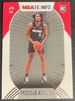 2020-21 Panini NBA Hoops Precious Achiuwa Rookie Base Miami Heat RC #210 GEM??