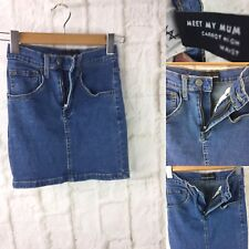Ziggy Denim size 24  Meet My Mum Carrot High Waist Blue Denim Mini Skirt