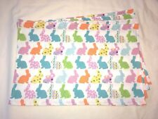 Easter Holiday Bunny Rabbit Pastel Blue Purple Yellow Orange Set of 4 Placemats