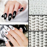 Nail Art Transfer 24 Sheets Stickers Flower 3D Decals Manicure Decoration Tips