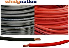 10' 2 AWG WELDING CABLE  5' Red 5' Black GAUGE COPPER  WIRE BATTERY SOLAR LEADS