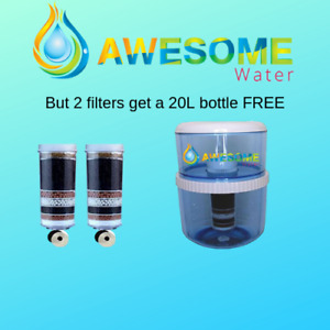 AWESOME WATER® - 8 Stage Filter - Premium, 2 Pack + 20L Bottle + Cleaning Bundle