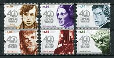 Portugal 2017 MNH Star Wars 40 Years Han Solo Yoda Darth Vader 6v Set Stamps