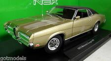 Nex 1/18 Scale 12521W 1970 Ford Mercury Cougar XR7 Gold Diecast model car